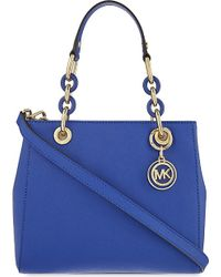 MICHAEL Michael Kors | Blue Cynthia Small Leather Satchel | Lyst