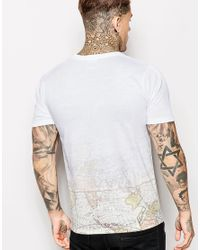 Hype - Gray T-shirt With Globe Print for Men - Lyst