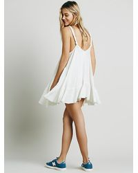 Free People - White Endless Summer Womens Check Me Out Mini - Lyst