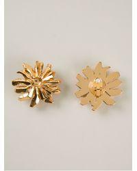 Christian Lacroix - Metallic Sun Earrings - Lyst
