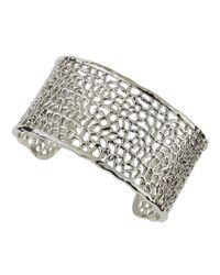 R.j. Graziano - Metallic Pebble-Cut Cuff Bracelet - Lyst