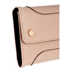 ASOS - Natural Purse with Panel Detail - Lyst