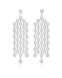 Nina Runsdorf | Metallic Platinum Diamond Earrings | Lyst