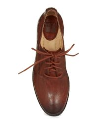 Frye | Brown Anna Leather Oxfords | Lyst