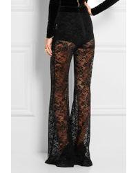 Balmain | Black Lace Flared Pants | Lyst