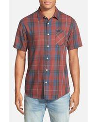 RVCA - Blue 'waas' Woven Short Sleeve Shirt for Men - Lyst