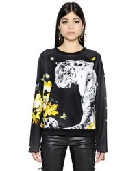 Roberto Cavalli | Multicolor Tiger & Flower Printed Jersey Sweatshirt | Lyst