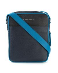 Burberry - Blue Colour Block London Leather Crossbody Bag for Men - Lyst