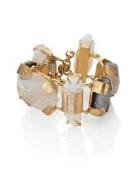 Kelly Wearstler - Metallic Oleander Druzy & Crystal Cuff Bracelet - Lyst