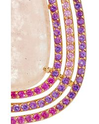 "Shawn Ames | One-Of-A-Kind ""Rainbow Pear"" Morganite, Pink Sapphires And Amethyst Earrings 
