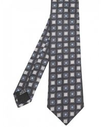 Jules B - Blue Silk Square Patterned Tie for Men - Lyst