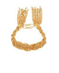 Aurelie Bidermann - Metallic Miki Gold-plated Braided Bracelet - Lyst