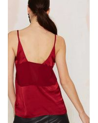 Nasty Gal | Deeper And Deeper Sheer Tank - Red | Lyst