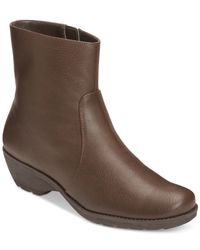 Aerosoles - Brown Speartint Booties - Lyst