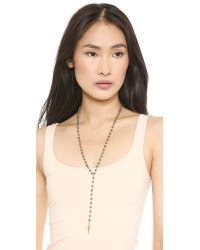 Heather Hawkins - Gray Day Tripper Necklace - Pyrite - Lyst