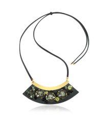 Marni - Black Mercurio Strass Necklace - Lyst