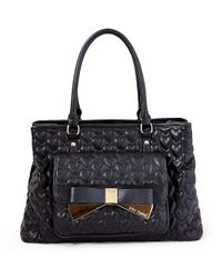 Betsey Johnson | Black Be Mine Forever Quilted Satchel | Lyst