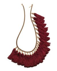 Eddie Borgo - Metallic Silk Tassel Spray Necklace - Lyst