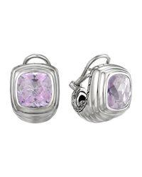 John Hardy - Metallic Bedeg Silver Batu Large Shrimp Earrings With Lavender Moon Quartz - Lyst