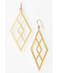 Dogeared | Metallic Women'S 'Be Your Own Kind Of Beautiful' Boxed Drop Earrings - Gold | Lyst