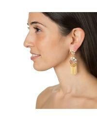 Lele Sadoughi | Metallic Crystal Fringe Earrings | Lyst