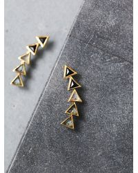 Free People | Metallic Katie Diamond Womens Kora Ear Climbers | Lyst