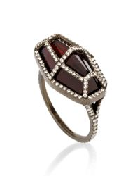 Monique Péan - Red One Of A Kind Rhodolite Cage Ring - Lyst