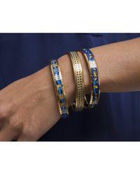 Hermès - Metallic Pre-owned Black  Gold Geometric Bangle - Lyst