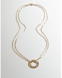 Lord & Taylor | Metallic 14k Gold Circle Pendant Necklace | Lyst