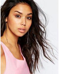 ASOS - Multicolor Fine Shape Bead Earring - Lyst