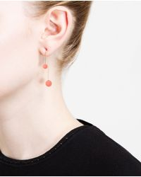 Asherali Knopfer | Pink Gold And Opal Bar Earring | Lyst