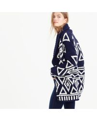 J.Crew | Blue Collection Fair Isle Cardigan Sweater In Lambswool | Lyst