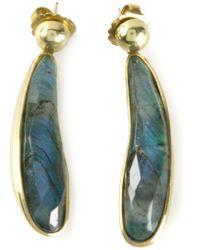 Vaubel | Blue Fat Tear Stone Earrings | Lyst