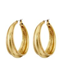 Lucky Brand - Metallic Hoop Earrings - Lyst