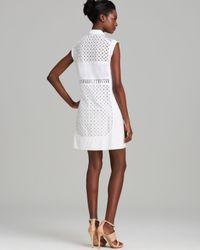 Lyst Rebecca Taylor Dress Cap Sleeve Eyelet Shirt In White