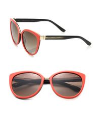 Jimmy Choo | Pink Danas 56mm Modified Cat's-eye Sunglasses | Lyst