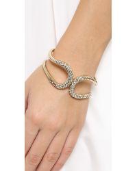 Alexis Bittar - Metallic Crystal Encrusted Hinged Bracelet Gold - Lyst