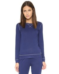 Calvin Klein | Blue Liquid Lounge Pajama Top | Lyst