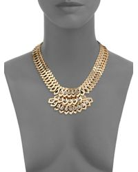DANNIJO | Metallic Julia Crystal Cascade Bib Necklace | Lyst