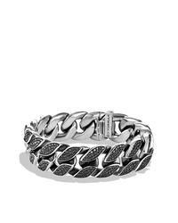 David Yurman - Black Curb Chain Wide Bracelet for Men - Lyst