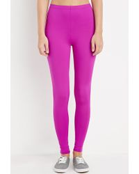Forever 21 - Purple Nylon-blend Leggings - Lyst