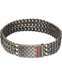Gucci | Metallic Diamantissima Link Bracelet - For Men | Lyst