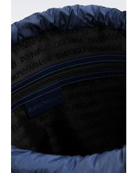 Emporio Armani - Blue Backpack In Technical Fabric for Men - Lyst