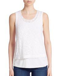 Kensie | White Fine Gauge Slub Sweater | Lyst