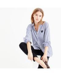 J.Crew | Blue Play Comme Des Garçons Stripe Button-down Shirt | Lyst