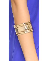 Sam Edelman | Metallic Open Metal Cuff Bracelet - Gold | Lyst