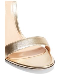 Gianvito Rossi - Suede And Metallic Leather Sandals - Lyst