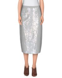 French Connection - Gray 3/4 Length Skirt - Lyst