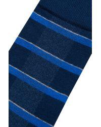 BOSS - Blue Cotton-blend Socks: 'rs Design' for Men - Lyst