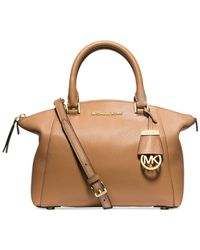 Michael Kors | Brown Michael Riley Small Satchel | Lyst